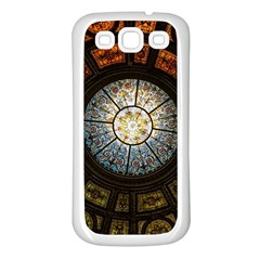 Black And Borwn Stained Glass Dome Roof Samsung Galaxy S3 Back Case (white) by Nexatart