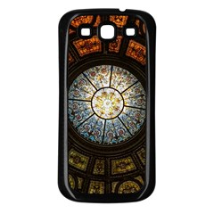 Black And Borwn Stained Glass Dome Roof Samsung Galaxy S3 Back Case (black) by Nexatart