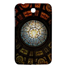 Black And Borwn Stained Glass Dome Roof Samsung Galaxy Tab 3 (7 ) P3200 Hardshell Case  by Nexatart