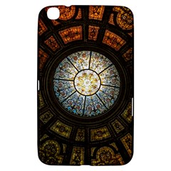 Black And Borwn Stained Glass Dome Roof Samsung Galaxy Tab 3 (8 ) T3100 Hardshell Case  by Nexatart