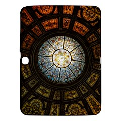 Black And Borwn Stained Glass Dome Roof Samsung Galaxy Tab 3 (10 1 ) P5200 Hardshell Case  by Nexatart