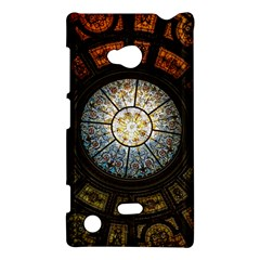 Black And Borwn Stained Glass Dome Roof Nokia Lumia 720 by Nexatart
