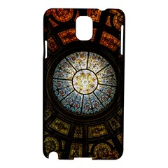 Black And Borwn Stained Glass Dome Roof Samsung Galaxy Note 3 N9005 Hardshell Case by Nexatart