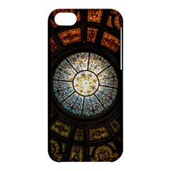 Black And Borwn Stained Glass Dome Roof Apple Iphone 5c Hardshell Case by Nexatart
