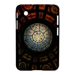 Black And Borwn Stained Glass Dome Roof Samsung Galaxy Tab 2 (7 ) P3100 Hardshell Case  by Nexatart