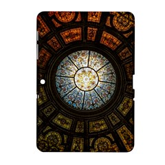 Black And Borwn Stained Glass Dome Roof Samsung Galaxy Tab 2 (10 1 ) P5100 Hardshell Case  by Nexatart