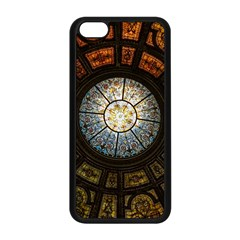 Black And Borwn Stained Glass Dome Roof Apple Iphone 5c Seamless Case (black)