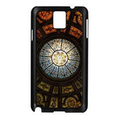 Black And Borwn Stained Glass Dome Roof Samsung Galaxy Note 3 N9005 Case (black) by Nexatart