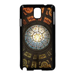 Black And Borwn Stained Glass Dome Roof Samsung Galaxy Note 3 Neo Hardshell Case (black) by Nexatart