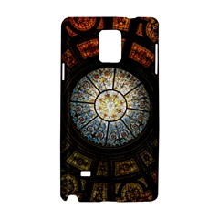 Black And Borwn Stained Glass Dome Roof Samsung Galaxy Note 4 Hardshell Case by Nexatart