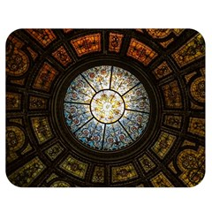 Black And Borwn Stained Glass Dome Roof Double Sided Flano Blanket (medium)  by Nexatart