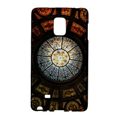 Black And Borwn Stained Glass Dome Roof Galaxy Note Edge by Nexatart