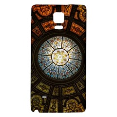 Black And Borwn Stained Glass Dome Roof Galaxy Note 4 Back Case by Nexatart