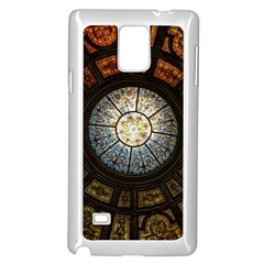 Black And Borwn Stained Glass Dome Roof Samsung Galaxy Note 4 Case (white) by Nexatart
