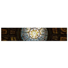Black And Borwn Stained Glass Dome Roof Flano Scarf (small) by Nexatart
