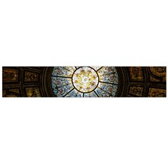 Black And Borwn Stained Glass Dome Roof Flano Scarf (large) by Nexatart