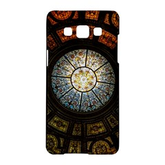 Black And Borwn Stained Glass Dome Roof Samsung Galaxy A5 Hardshell Case  by Nexatart