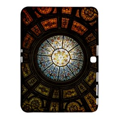 Black And Borwn Stained Glass Dome Roof Samsung Galaxy Tab 4 (10 1 ) Hardshell Case  by Nexatart