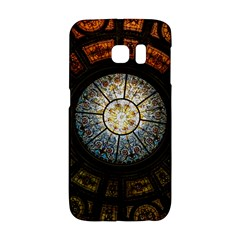 Black And Borwn Stained Glass Dome Roof Galaxy S6 Edge by Nexatart