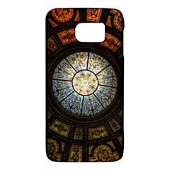 Black And Borwn Stained Glass Dome Roof Galaxy S6 by Nexatart