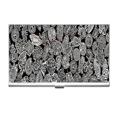 Black And White Art Pattern Historical Business Card Holders