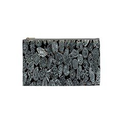 Black And White Art Pattern Historical Cosmetic Bag (small)
