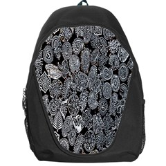 Black And White Art Pattern Historical Backpack Bag