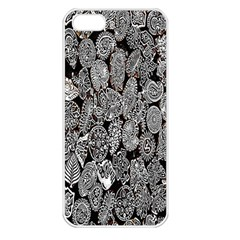 Black And White Art Pattern Historical Apple Iphone 5 Seamless Case (white)