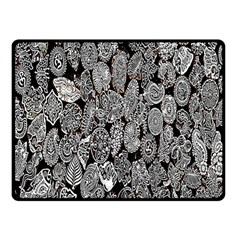 Black And White Art Pattern Historical Double Sided Fleece Blanket (small)