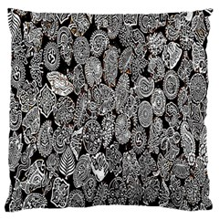 Black And White Art Pattern Historical Standard Flano Cushion Case (one Side) by Nexatart