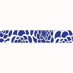 Blue And White Flower Background Small Bar Mats