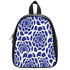 Blue And White Flower Background School Bags (small)