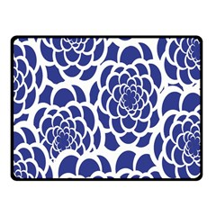 Blue And White Flower Background Fleece Blanket (small)