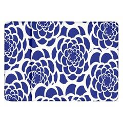 Blue And White Flower Background Samsung Galaxy Tab 8 9  P7300 Flip Case