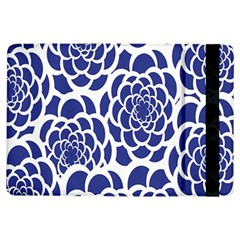 Blue And White Flower Background Ipad Air Flip by Nexatart