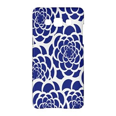 Blue And White Flower Background Samsung Galaxy A5 Hardshell Case  by Nexatart