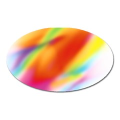 Blur Color Colorful Background Oval Magnet by Nexatart