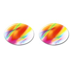Blur Color Colorful Background Cufflinks (oval)
