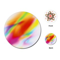 Blur Color Colorful Background Playing Cards (round)