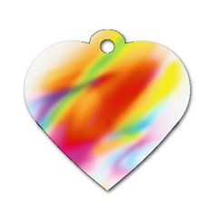 Blur Color Colorful Background Dog Tag Heart (one Side)