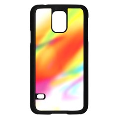 Blur Color Colorful Background Samsung Galaxy S5 Case (black) by Nexatart