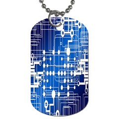 Board Circuits Trace Control Center Dog Tag (one Side) by Nexatart
