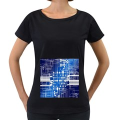 Board Circuits Trace Control Center Women s Loose-Fit T-Shirt (Black) by Nexatart