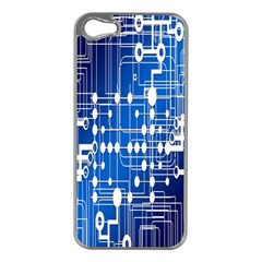 Board Circuits Trace Control Center Apple Iphone 5 Case (silver) by Nexatart