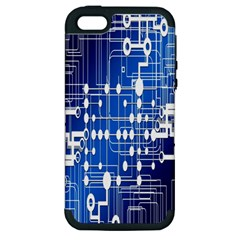 Board Circuits Trace Control Center Apple Iphone 5 Hardshell Case (pc+silicone)