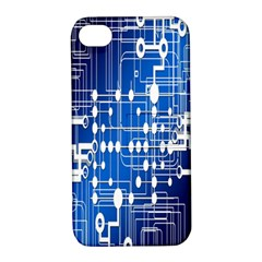 Board Circuits Trace Control Center Apple Iphone 4/4s Hardshell Case With Stand