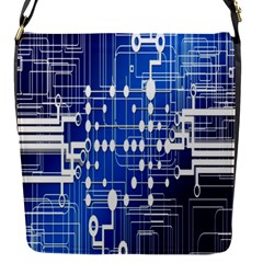 Board Circuits Trace Control Center Flap Messenger Bag (s)