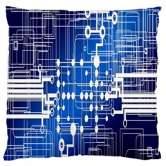 Board Circuits Trace Control Center Standard Flano Cushion Case (two Sides) by Nexatart