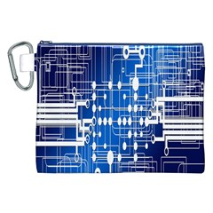 Board Circuits Trace Control Center Canvas Cosmetic Bag (xxl) by Nexatart