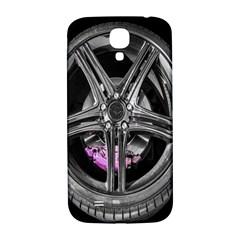 Bord Edge Wheel Tire Black Car Samsung Galaxy S4 I9500/i9505  Hardshell Back Case